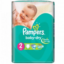 37 Couches Pampers Baby Dry taille 2 sur Choupinet