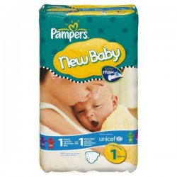 23 Couches Pampers New Baby taille 1 sur Choupinet