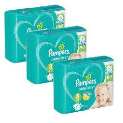 Pack 60 Couches Pampers Baby Dry taille 8 sur Choupinet