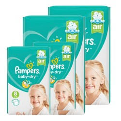 Mega pack 100 Couches Pampers Baby Dry taille 8 sur Choupinet
