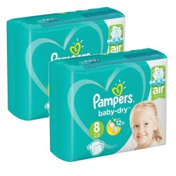 Mega pack 160 Couches Pampers Baby Dry taille 8 sur Choupinet
