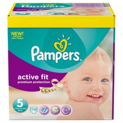 76 Couches Pampers Active Fit taille 5 sur Choupinet