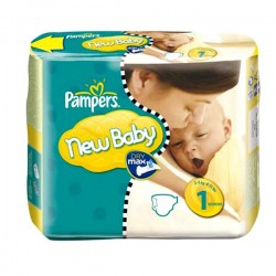 74 Couches Pampers New Baby taille 1 sur Choupinet