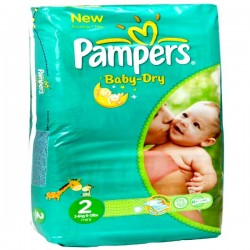 35 Couches Pampers Baby Dry taille 2 sur Choupinet