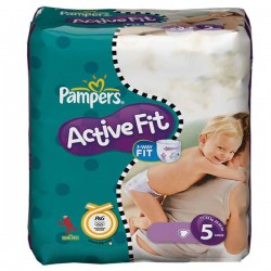 74 Couches Pampers Active Fit taille 5 sur Choupinet