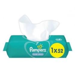 Pack 52 Lingettes Bébés Pampers Fresh Clean sur Choupinet