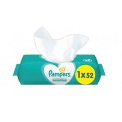 Pack 52 Lingettes Bébés Pampers Sensitive sur Choupinet