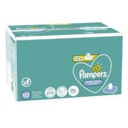 Maxi mega pack 416 Lingettes Bébés Pampers Fresh Clean sur Choupinet