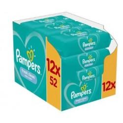 Pack jumeaux 520 Lingettes Bébés Pampers Fresh Clean sur Choupinet