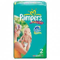 259 Couches Pampers Baby Dry taille 2 sur Choupinet