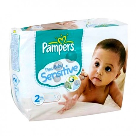 48 Couches Pampers New Baby Sensitive Taille 2 En Promotion Sur