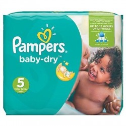 80 Couches Pampers Baby Dry taille 5 sur Choupinet