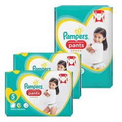 Mega pack 120 Couches Pampers Premium Protection Pants taille 5 sur Choupinet