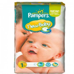 172 Couches Pampers New Baby Dry taille 1 sur Choupinet