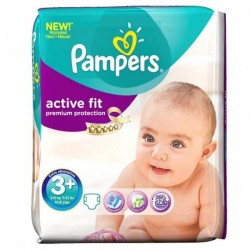 42 Couches Pampers Active Fit taille 3 sur Choupinet