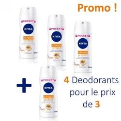 4 Deodorants Nivea Stress Protect - 4 au prix de 3 taille Pocket sur Choupinet