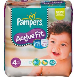 92 Couches Pampers Active Fit taille 4 sur Choupinet