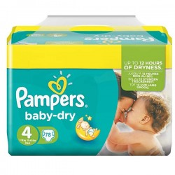 78 Couches Pampers Baby Dry taille 4 sur Choupinet