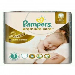 33 Couches Pampers Premium Care taille 1 sur Choupinet