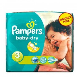 36 Couches Pampers Baby Dry taille 3 sur Choupinet