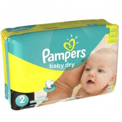 420 Couches Pampers Baby Dry taille 2 sur Choupinet
