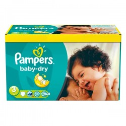 104 Couches Pampers Baby Dry taille 3 sur Choupinet