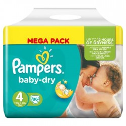 86 Couches Pampers Baby Dry taille 4 sur Choupinet