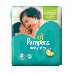 96 Couches Pampers Baby Dry taille 4 sur Choupinet