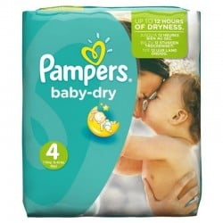 31 Couches Pampers Baby Dry taille 4 sur Choupinet