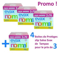 320 Protèges-Slips Tampax Salva Evax - 4 Packs de 140 sur Choupinet