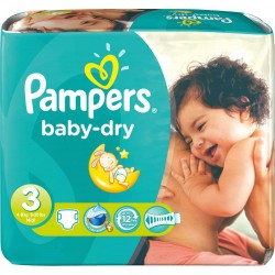 630 Couches Pampers Baby Dry taille 3 sur Choupinet