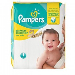 45 Couches Pampers New Baby taille 1 sur Choupinet
