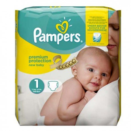 27 Couches Pampers New Baby Dry Taille 1 Moins Cher Sur Choupinet