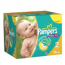 252 Couches Pampers Baby Dry taille 2 sur Choupinet