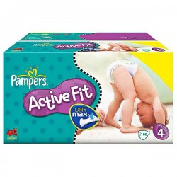 100 Couches Pampers Active Fit taille 4 sur Choupinet