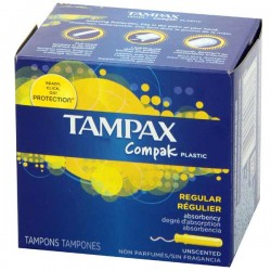 80 Tampons Tampax Compak taille regular avec applicateur sur Choupinet