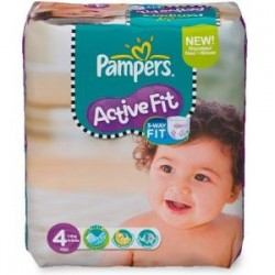 43 Couches Pampers Active Fit taille 4 sur Choupinet