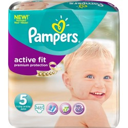 48 Couches Pampers Active Fit taille 5 sur Choupinet