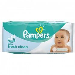 64 Lingettes Bébés Pampers Fresh Clean sur Choupinet