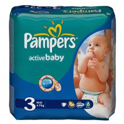 96 Couches Pampers Active Baby taille 3 sur Choupinet