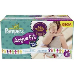 72 Couches Pampers Active Fit taille 5 sur Choupinet