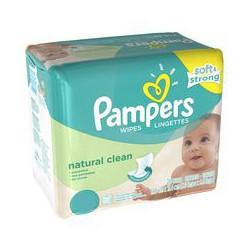 768 Lingettes Bébés Pampers Natural Clean sur Choupinet
