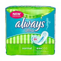 18 Serviettes hygiéniques Always Ultra taille Normal sur Choupinet