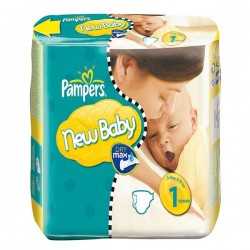 50 Couches Pampers New Baby taille 1 sur Choupinet