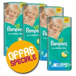 252 Couches Pampers Active Baby Dry taille 5 sur Choupinet