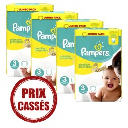 232 Couches Pampers Premium Protection taille 3 sur Choupinet