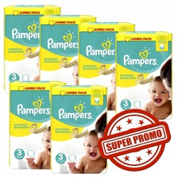 435 Couches Pampers Premium Protection taille 3 sur Choupinet