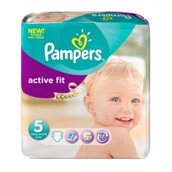 20 Couches Pampers Active Fit taille 5 sur Choupinet