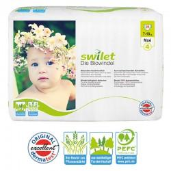 Pack 28 Couches bio écologiques Swilet taille 4 sur Choupinet