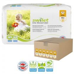 Maxi pack 168 Couches bio écologiques Swilet taille 2 sur Choupinet